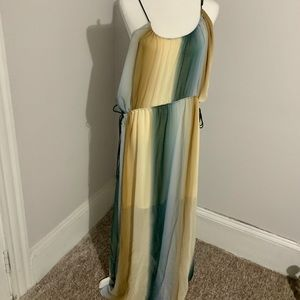 H&M Ombré Chiffon Maxi Dress
